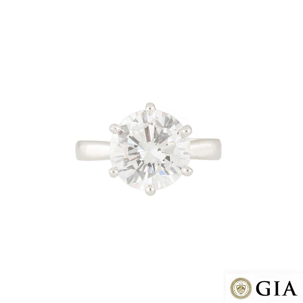Diamond Ring in Platinum 4.57ct D/VS2